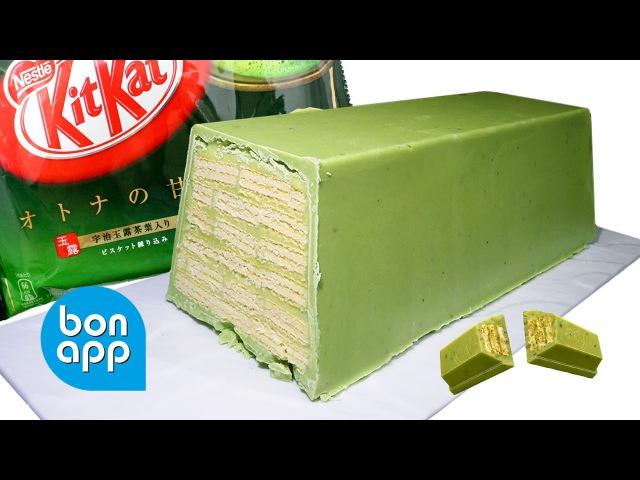 Гигантский КитКат с зеленым чаем Mega KitKat green tea