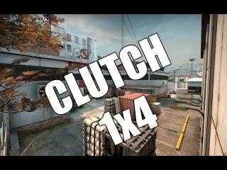 CS:GO Clutch 1x4 eco round on Cache