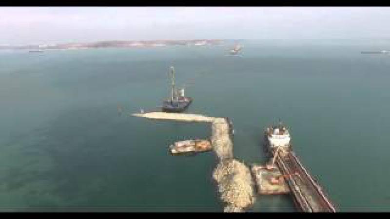 Строительство Керченского моста Крым зима 2016