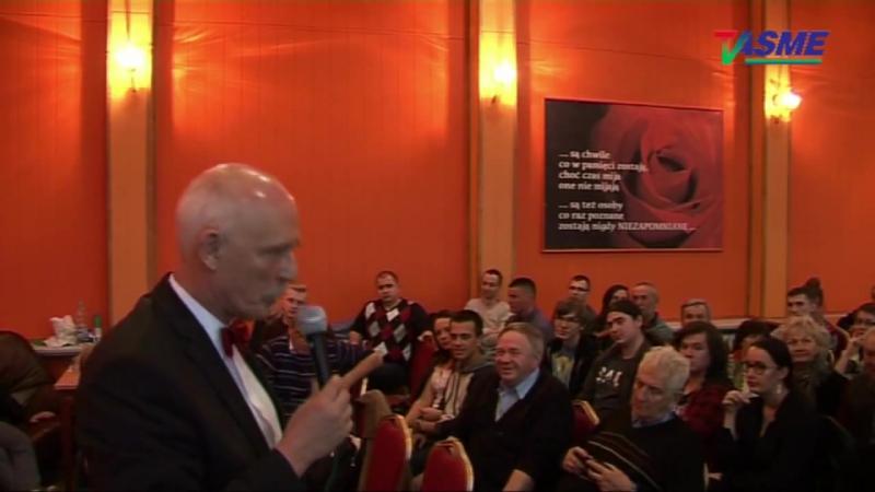 Jesteśmy kolonią UE i dlatego musimy ją zniszczyć Janusz Korwin Mikke w Ciechanowie cz 2