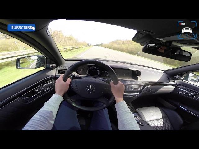 Mercedes Benz S65 AMG 6 0 V12 BiTurbo FAST Autobahn Top Speed POV Drive