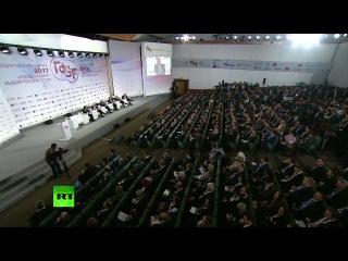 Медведев принимает участие в дискуссии Россия и мир: выбор приоритетов на Гайдаровском форуме. .