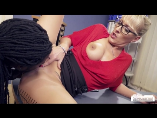 Lana Vegas - German MILF boss fucks BBC at the office and gets cum in coffee and mouth