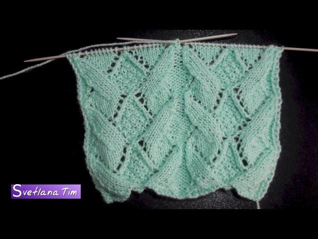 Как вязать ажурный узор ЦВЕТЫ КУВШИНКИ УЗОРЫ СПИЦАМИ ВЯЗАНИЕ Knitting Stitch Pattern № 469