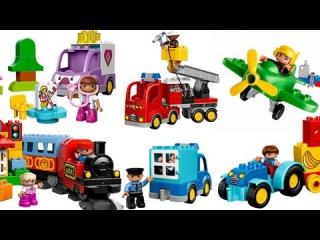 Транспорт Первые слова для малышей в картинках из конструктора LEGO DUPLO Обучающее видео  для детей