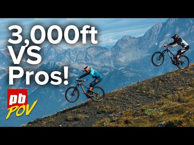 3,000ft MTB Descent in Retallack with Pros!