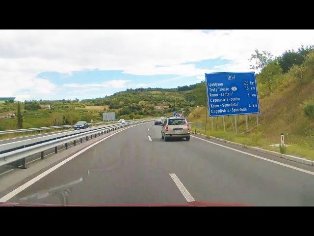 Driving Portoroz - Koper, Slovenia