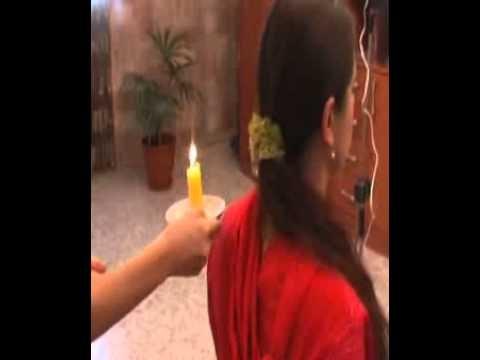 очищение свечой человека по фото