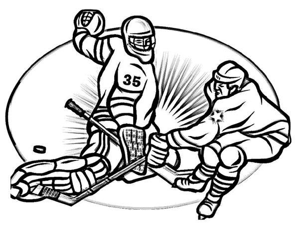 Раскраска хоккеист и хоккеисты