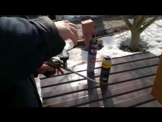 УНИКУМ. Полезный совет, как дёшево промывать  пистолет для монтажной пены.