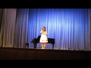 Выступление Кристины,песня  Долиною