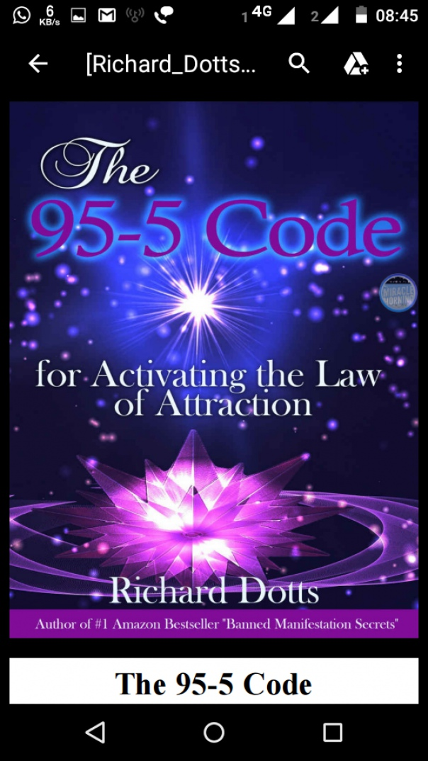 The 95-5 Code for Activating the law of attraction