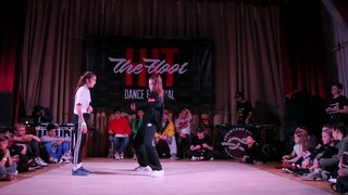 Hit The Floor vol.3 hip-hop beginners 1/4 Gelya(win) vs Armina