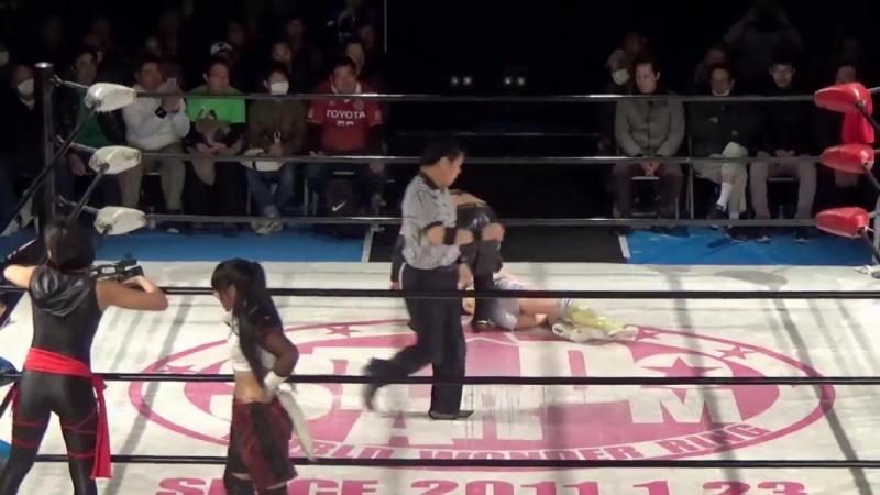 3. Hana Kimura, Kagetsu Kris Wolf vs. Hiromi Mimura, Konami Starlight Kid