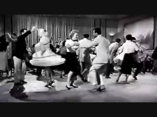 Real 1950s rock roll, rockabilly dance from lindy hop