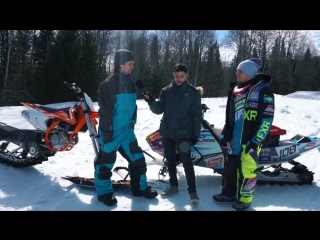 SNOWMOBILE vs SNOWBIKE- Whats faster in a race