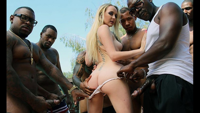 Iris Rose ( Iris Roses Second Appearance) 2016 Interracial Anal Gang Bang Big Black Cock Анал