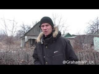 """""""Козлы Укропы"""" Старомихайловка (под Донецком) сегодня после ВСУ обстрела"""