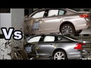 2017 Volvo S90 vs 2017 BMW 5 Series Crash Tests