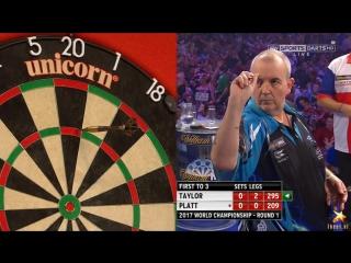 Phil taylor vs david platt (pdc world darts championship 2017 / round 1)