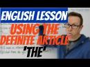 English lesson - How to use the definite article (the) - gramática inglesa