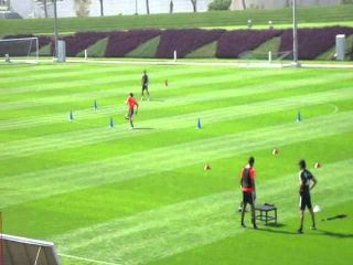 Individual speed training session with Mario Gomez