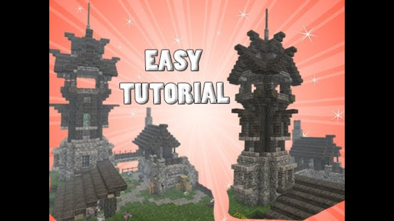 Minecraft: Tower Outpost House TUTORIAL! - Part 2/2