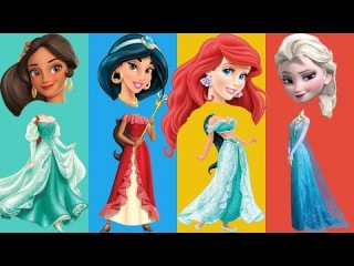 Wrong Heads Princess Jade Ariel Elsa Elena of Avalor Finger Family Learn Colors Nursery Rhyme