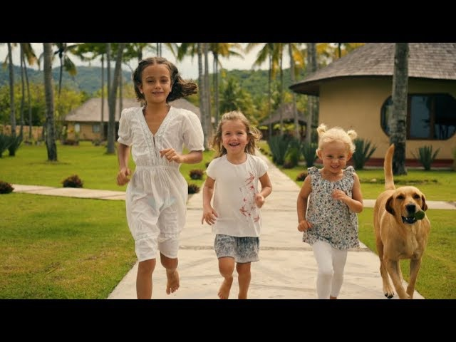 Kids are playing in Whales and waves resort in Sumbawa Hotel video