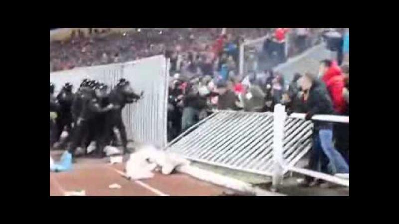 Шинник Спартак Беспорядки на стадионе