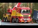 Scania Boniface Rotator Truck Heavy Recovery of Semi Trailer Sweden