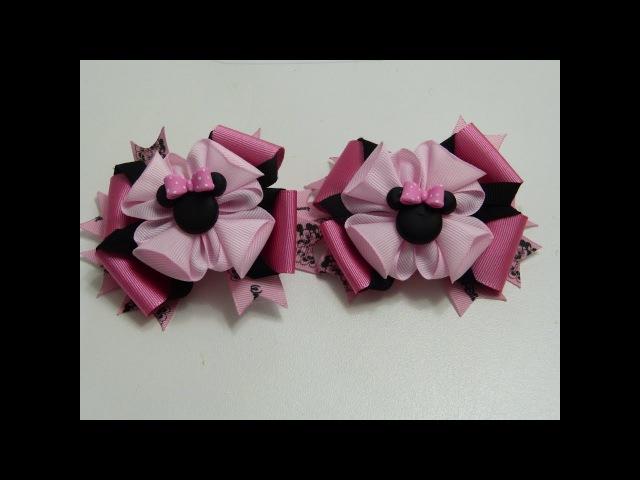 Como hacer un lazo doble súper fácil KANZASHI🌸, flores y Moños facil, diy kanzashi flower hairclip