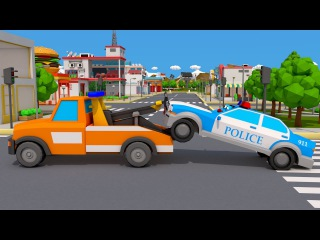 The Tow Truck & Police Car Heroes in City Car Accident | Cars & Trucks Team Cartoons for children
