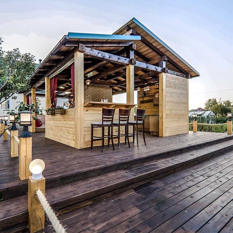 Летняя кухня из бревна для дачи: функциональное сооружение, изображение №12