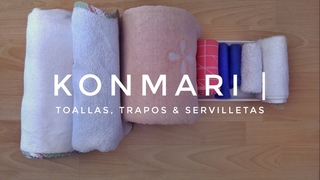 Cómo doblar toallas, trapos & servilletas | Método KonMari por Marie Kondo