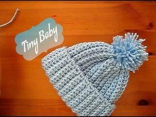 Easy Crochet Baby Premature hat Tiny Tutorial  10-12 Happy Crochet Club