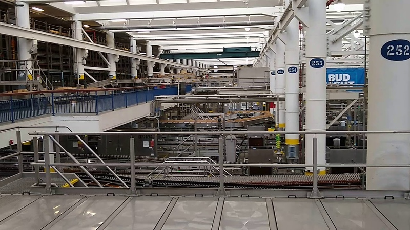 Bevo Packaging Facility at the Anheuser-Busch Brewery in St. Louis, Missouri