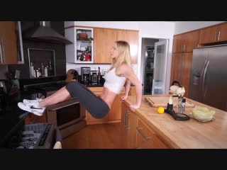 Kitchen home workout hot sexy fitness girls easy fast