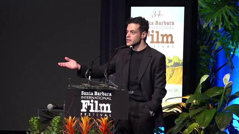 Joe Mazzello's Emotional Speech to Rami Malek Winner of the Santa Barbara film festival for Bohemian Rhapsody