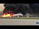 Moscou un avion prend feu à l'atterrissage
