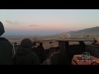 Командующий группировки войск наводит вертолёты ВКС РФ для удара по боевикам. Ноябрь 2015 г