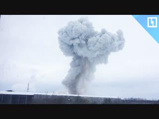 Мощный взрыв на химзаводе в Ленобласти