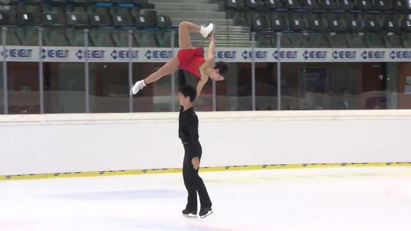 Miura Riku _ Ichihashi Shoya (JPN) _ Pairs Free Skating _ Linz 2018