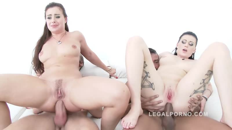 Roxy Black, Lexie Candy Big butt sluts fucked by 2 cocks, group sex orgy anal