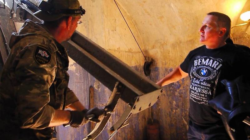 Форт Красная горка Работа снарядного подъемника 6 Кане 12 06 19
