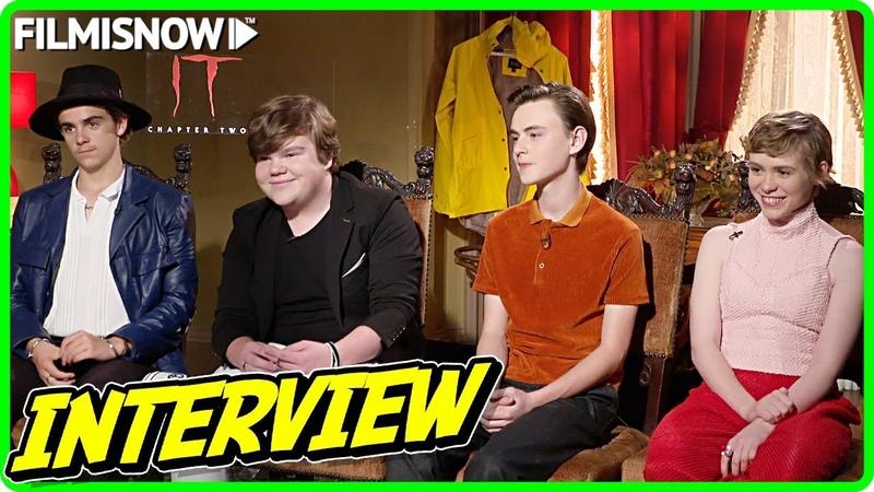 IT CHAPTER TWO Jack Dylan Grazer Jeremy Ray Taylor Jaeden Lieberher Sophia Lillis Interview