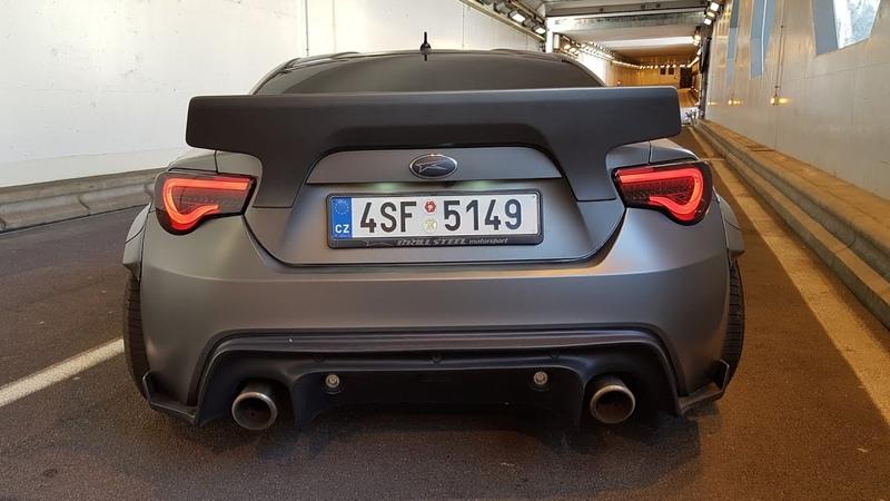 580HP Subaru BRZ 6.2l V8 LS3 Rocket Bunny - Start, Revs, POP BANGS!