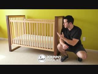 Детская кроватка из клёна и ореха Mid-Century Modern Walnut and Maple Baby Crib __ How To - Woodworking