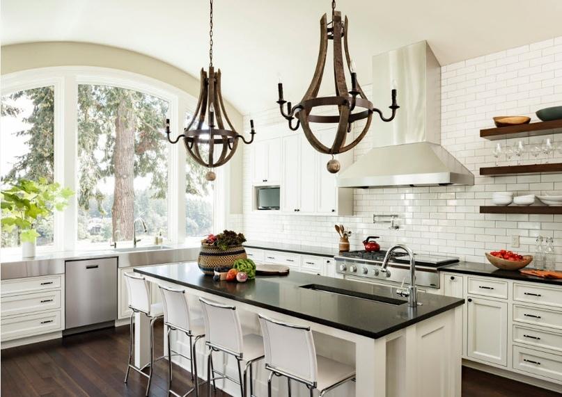 Черно-белая кухня – особенности контрастного дизайна., изображение №18