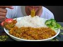 Tadka daal dal with chawal | veg dal and rice eating | messy food eating mukbang ( social eating )